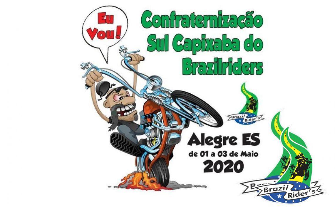 CONFRATERNIZAÇÃO BRAZIL RIDERS SUL CAPIXABA EM ALEGRE-ES