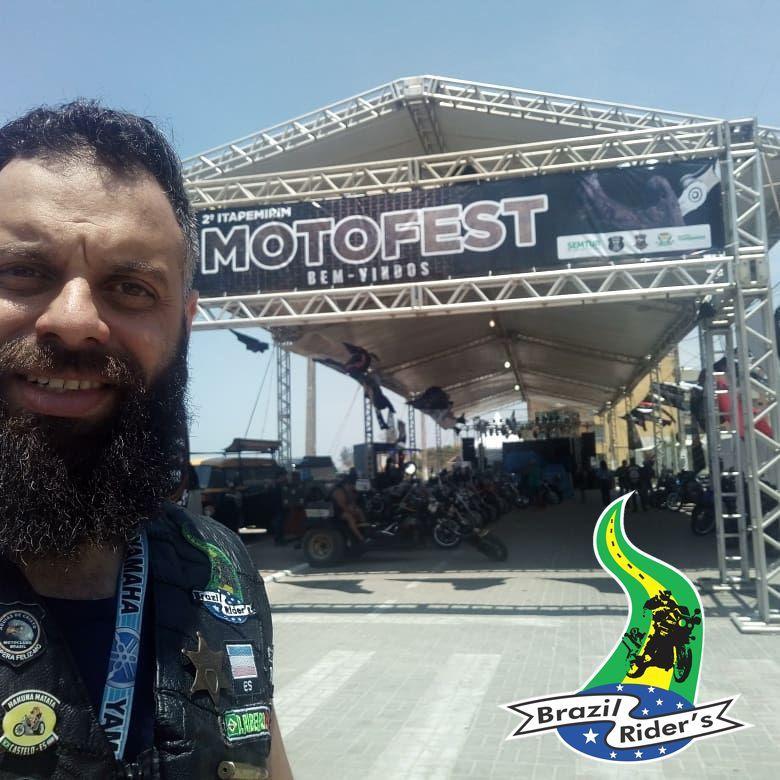 Brazil Rider (Alegre ES) marcando presença no 2 Itapemirim Moto Fest , na Praia de Itaoca ES
